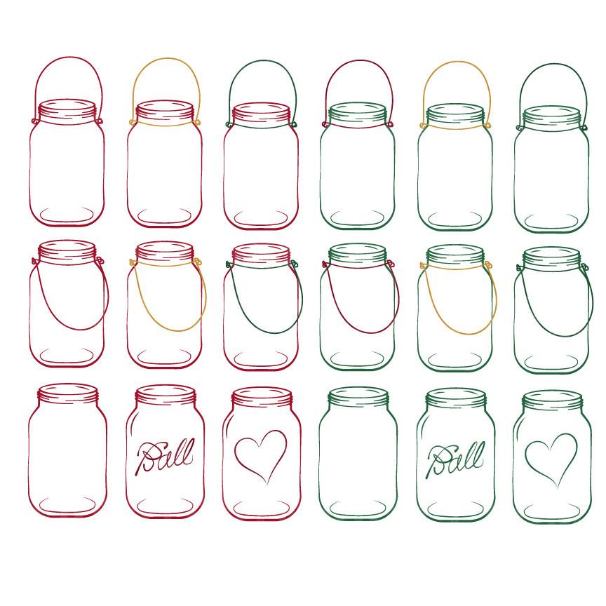 Mason Jar clipart mint green Jar clipart jar market jar