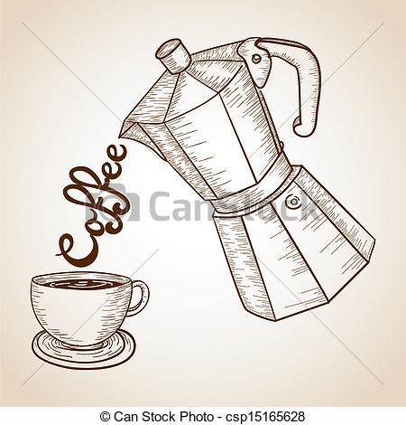 Jar clipart vintage coffee Cup and illustration Coffee of