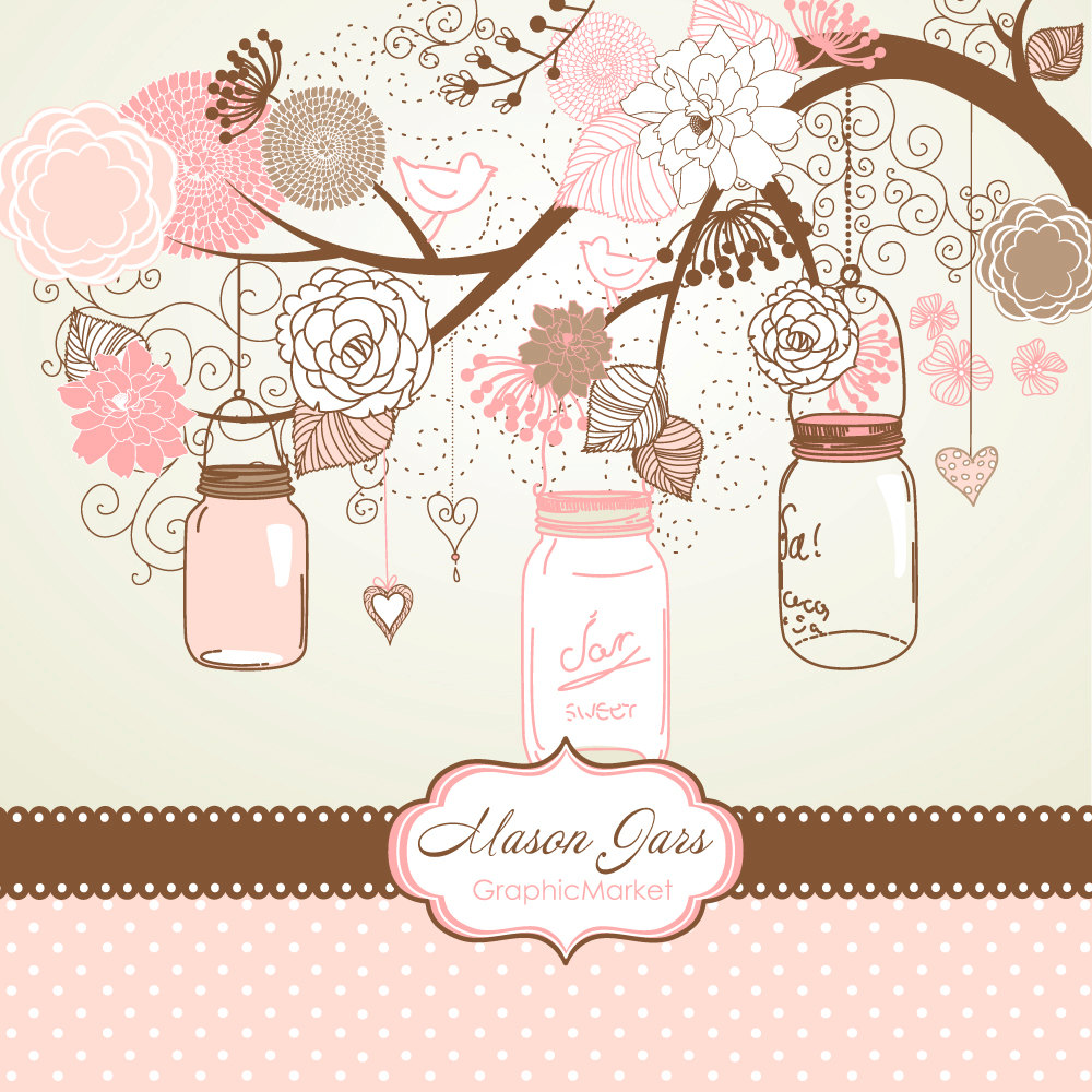 Drawn cards floral wedding #2