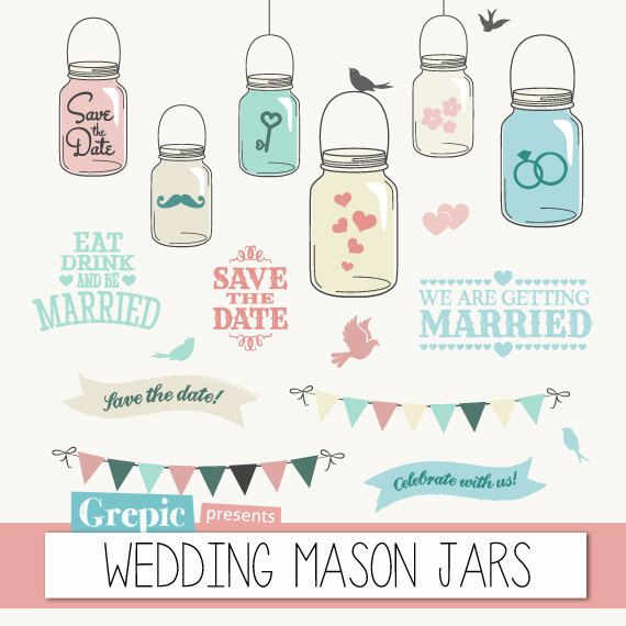 Jar clipart vintage wedding About  shabby images 50%