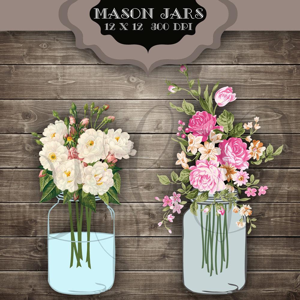 Jar clipart vintage wedding Like Mason this Digital art