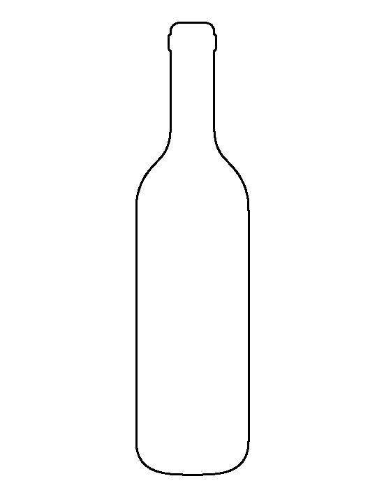 Bottle clipart silhouette Crafts Use the bottle printable