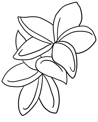 Red Flower clipart outline #10