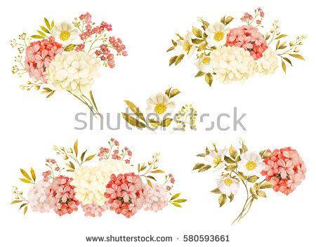 Jasmine clipart rose Art bouquet on flowers 108