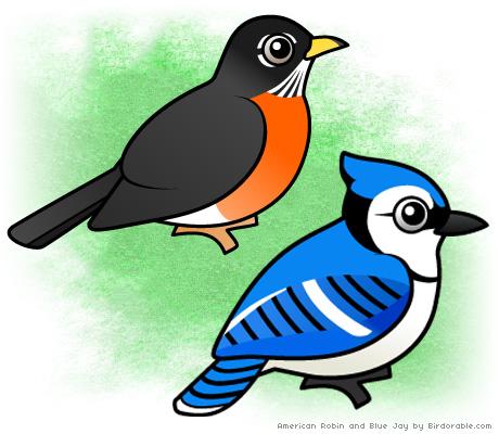 Bluebird clipart robin bird And Blue Robin Jay and