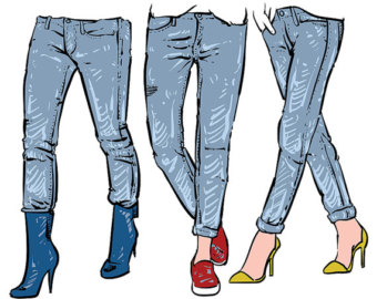 Jeans clipart Clip graphics Jeans use digital