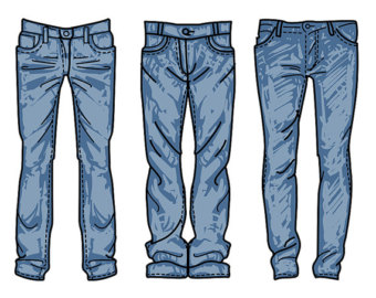 Jeans clipart Vector Etsy commercial digital jeans