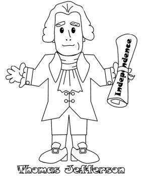Jefferson clipart Collection about Pages for Coloring