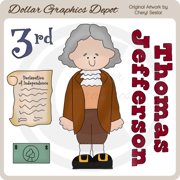 Declaration Of Independence clipart scroll  Jefferson Thomas Jefferson Clip