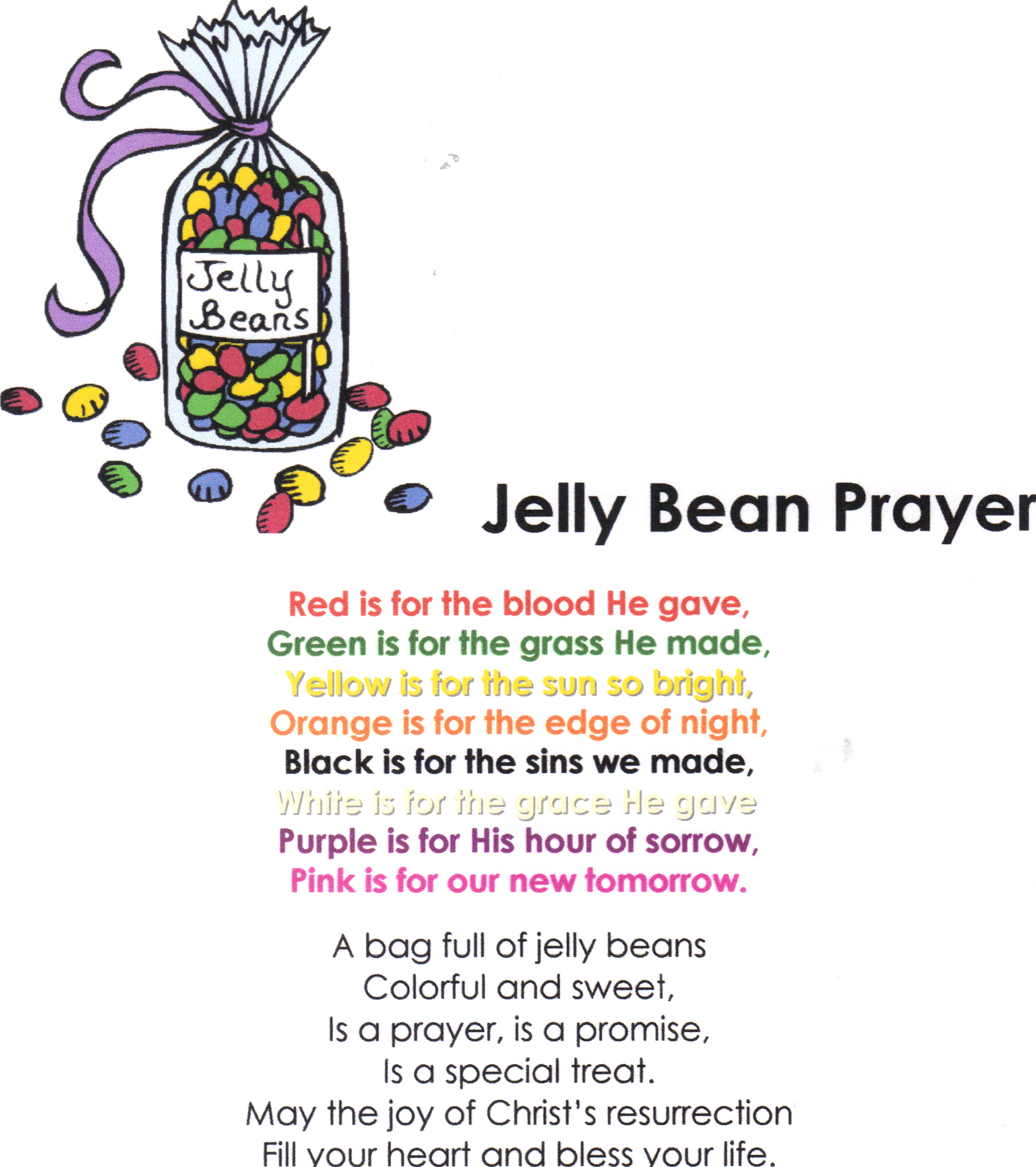 Jelly Bean clipart bag sweet Crafts answers jelly 2 bean