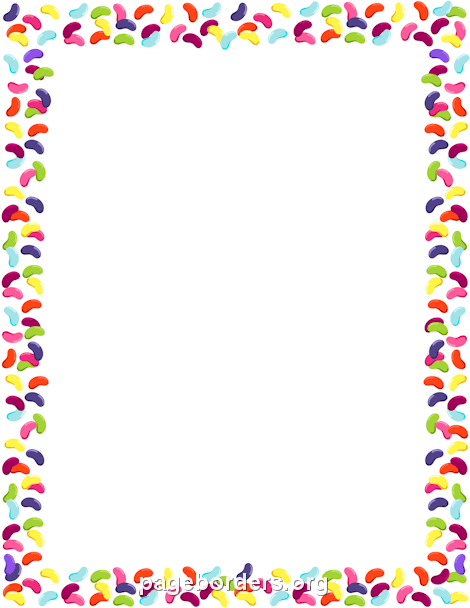 Jelly Beans clipart border Art Page and Border: Vector