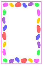 Jelly Beans clipart border Sheets Letter with Printable Borders