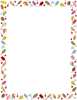 Pizza clipart page border Art Cream Borders: Borders Vector