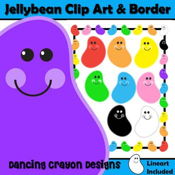 Jelly Bean clipart frame Images and on Art Clip