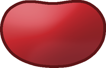 Jelly Bean clipart red File:Red Wikimedia Commons Bean Shape
