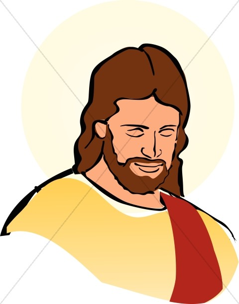Simple clipart jesus #9