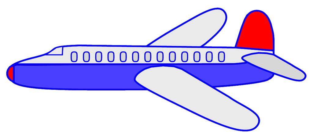 Aircraft clipart blue airplane #3