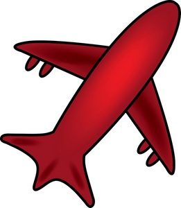 Red clipart aeroplane #10