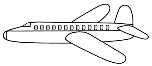 Aviation clipart black and white Airplane no Airplane clipart White