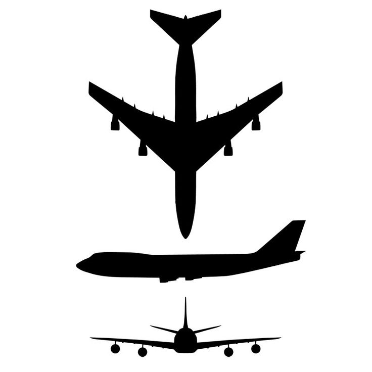 Jet clipart boeing 747 Airplane plane on 9 Tattoo
