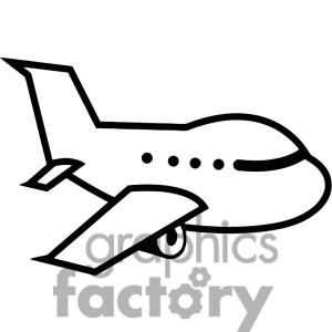 Aviation clipart black and white Clipart airplane Cartoon Airplane Free