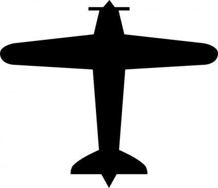 Jet clipart cessna airplane White Airplane Black Clipart Cessna