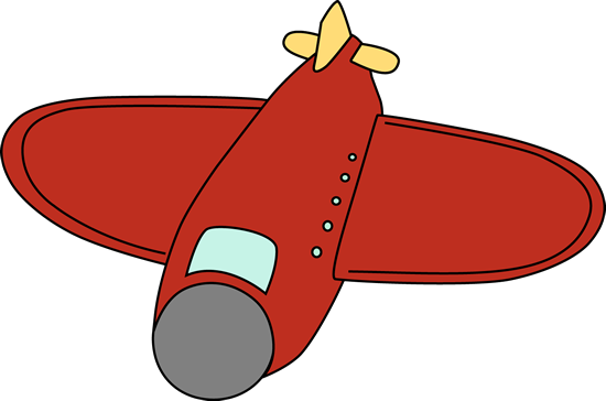 Red clipart aeroplane #6