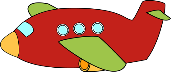 Cute clipart aeroplane Clip Red Airplane clipart jet