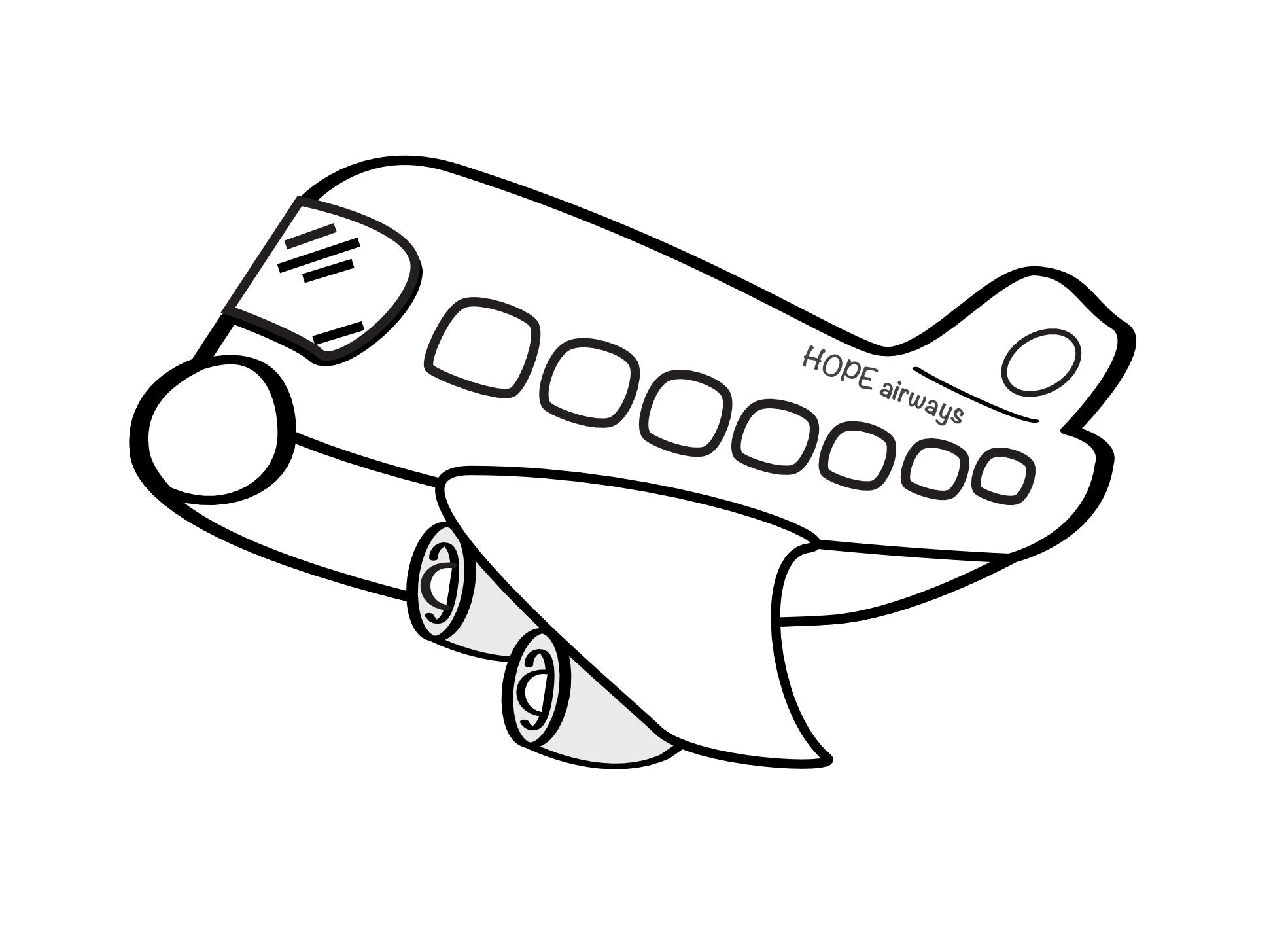 Drawn aircraft clipart white #9