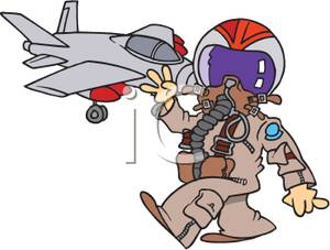 Army clipart fighter pilot #2