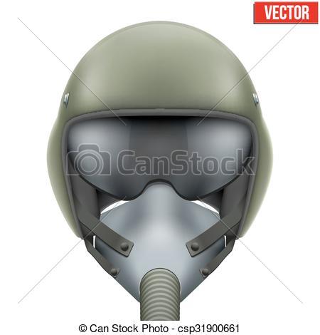 Mask clipart pilot Fighter flight csp31900661 Vector Clip