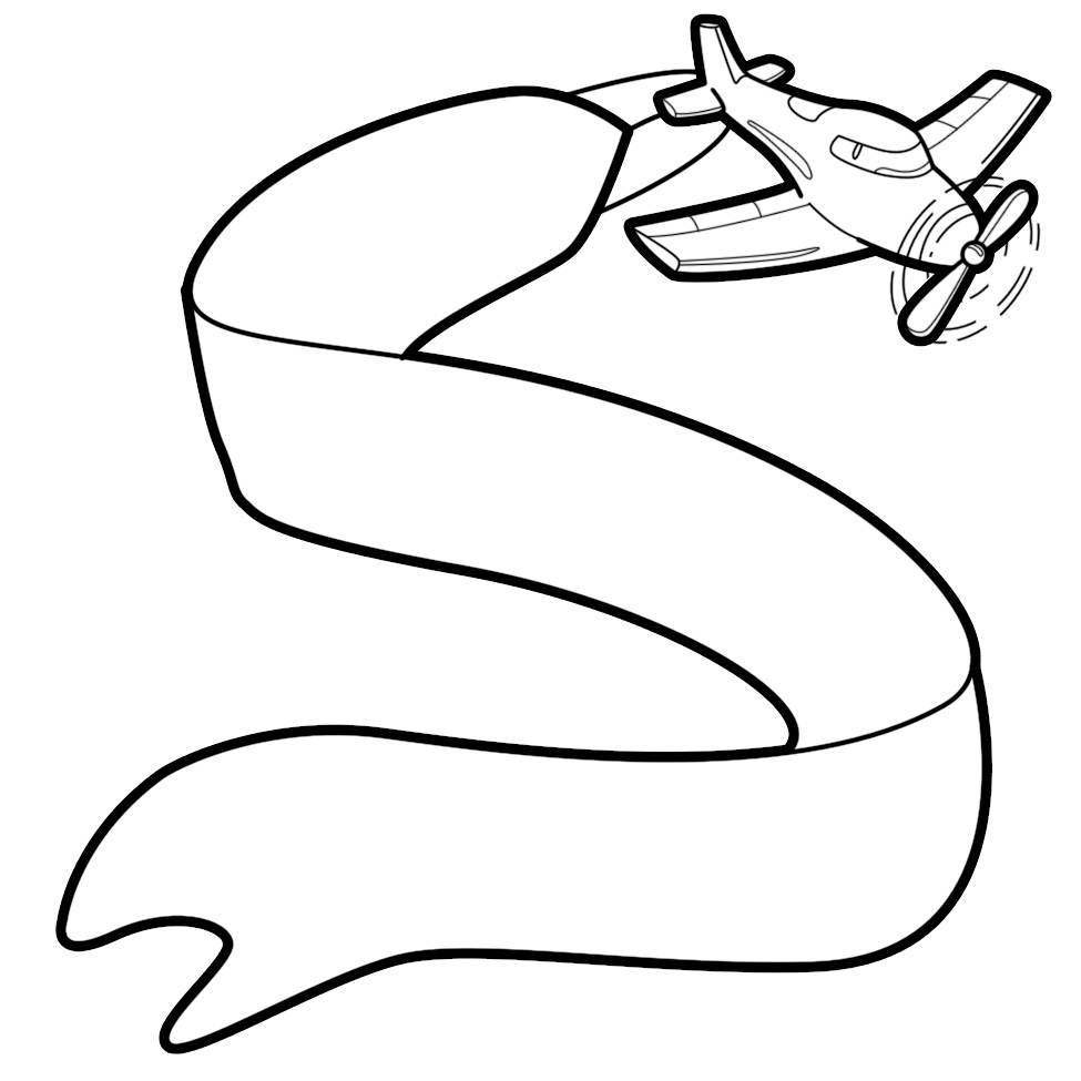 Airplane clipart banner clipart Clipartfan The banner Flying Cliparts