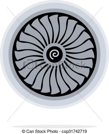 Jet clipart jet engine Turbine Art  Vector Clipart