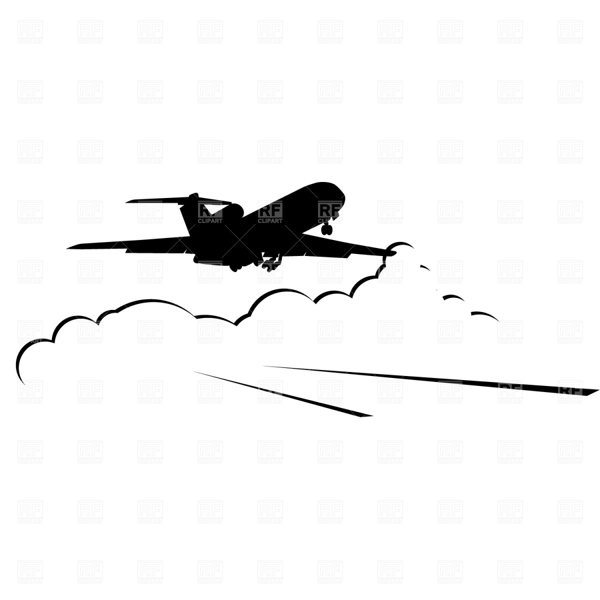 Snoopy clipart airplane Jet Plane Jet Clipart 10654