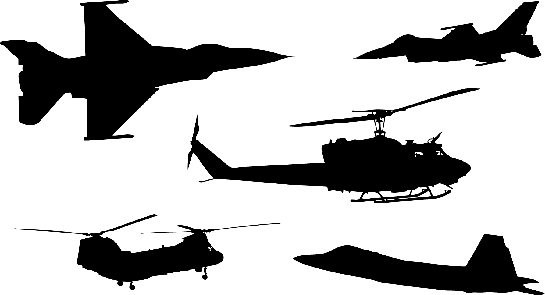 Shaow clipart military Aircraft of Free download clipart
