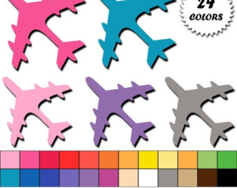 Jet clipart pink Clipart Download Plane Commercial OFF