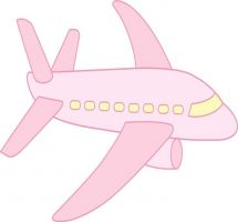Jet clipart pink Clipart Airplane Cute Clipart Front