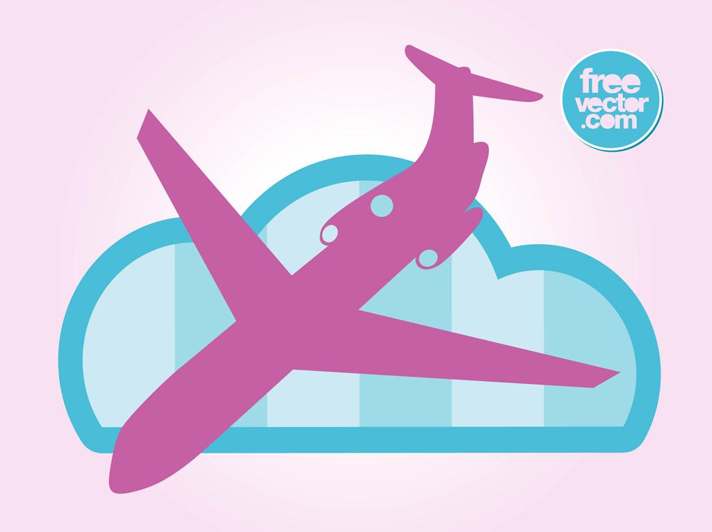 Jet clipart pink Landing Pink clip Airplane art