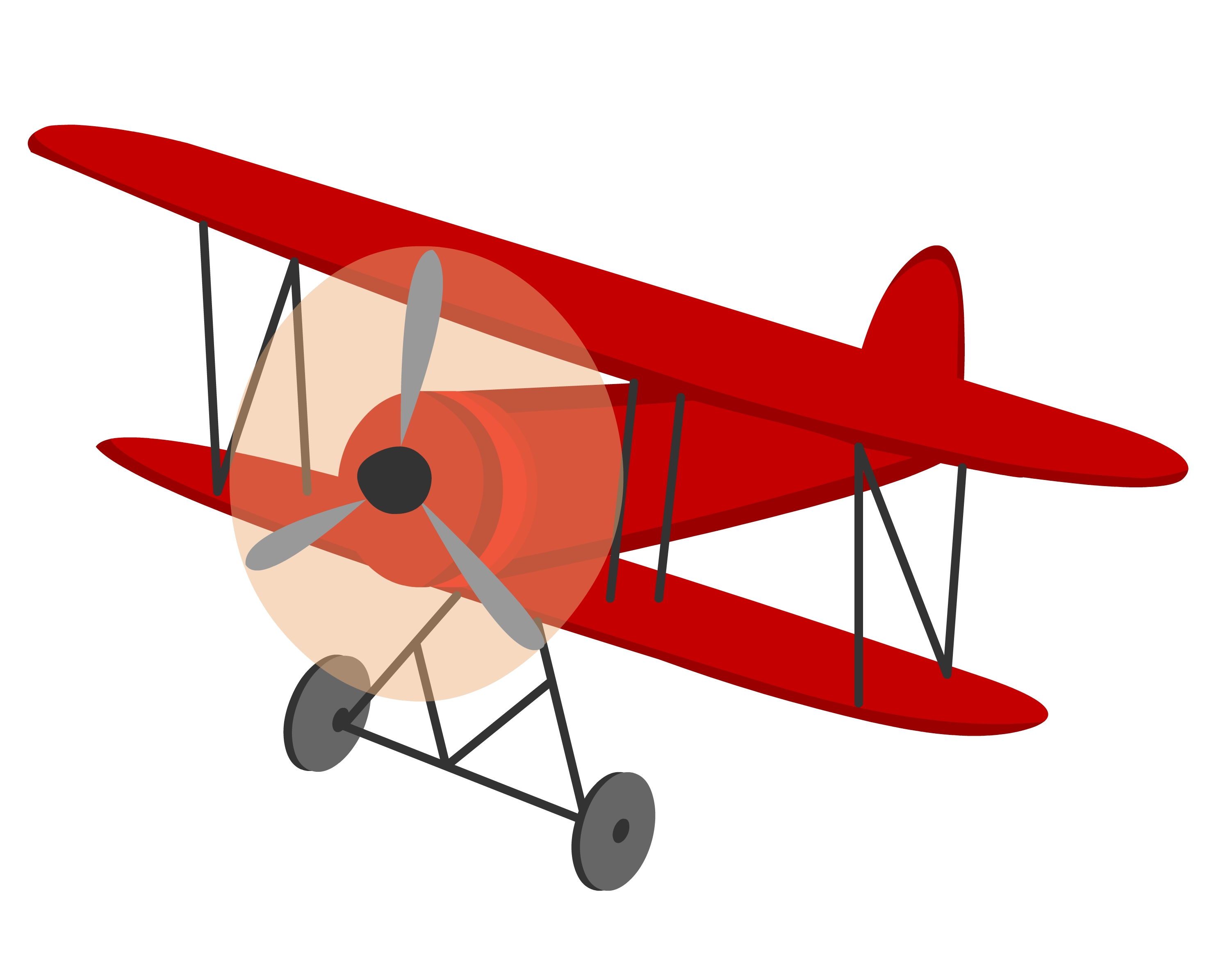 Pilot clipart red vintage airplane #5