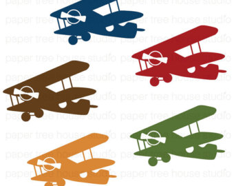 Departure clipart old airplane Clipart Academic Blue Clip Set