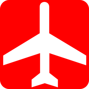 Red clipart aeroplane #5