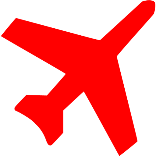 Red clipart aeroplane #7