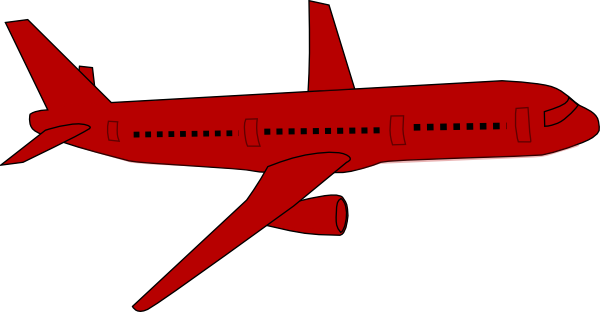 Red clipart aeroplane #2