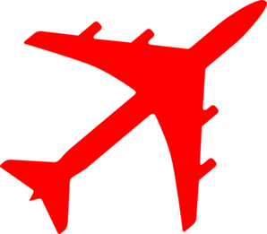Red clipart aeroplane #1