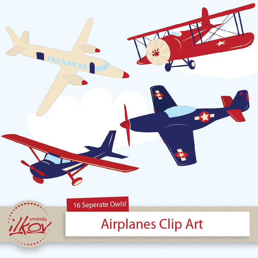 Departure clipart old airplane And Themed and Blue Invitations
