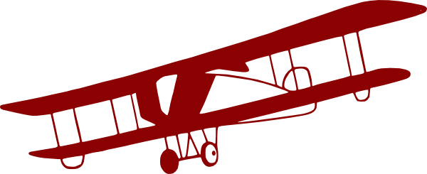 Pilot clipart red vintage airplane #6