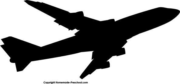Aircraft clipart jumbo jet Airplane Collection silhouette  boeing