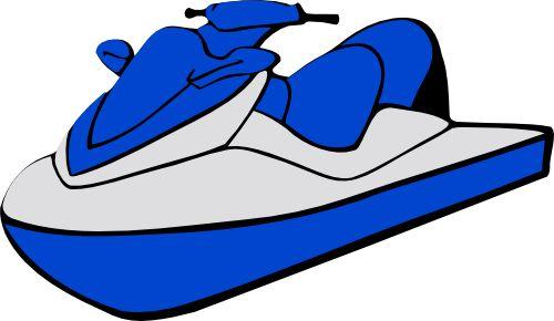 Ski clipart blue Clip Download  Clip Jetski