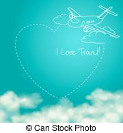 Jet clipart smoke Vector a the airplane behind