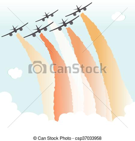 Jet clipart smoke Color Joy Airplane Plane Peace